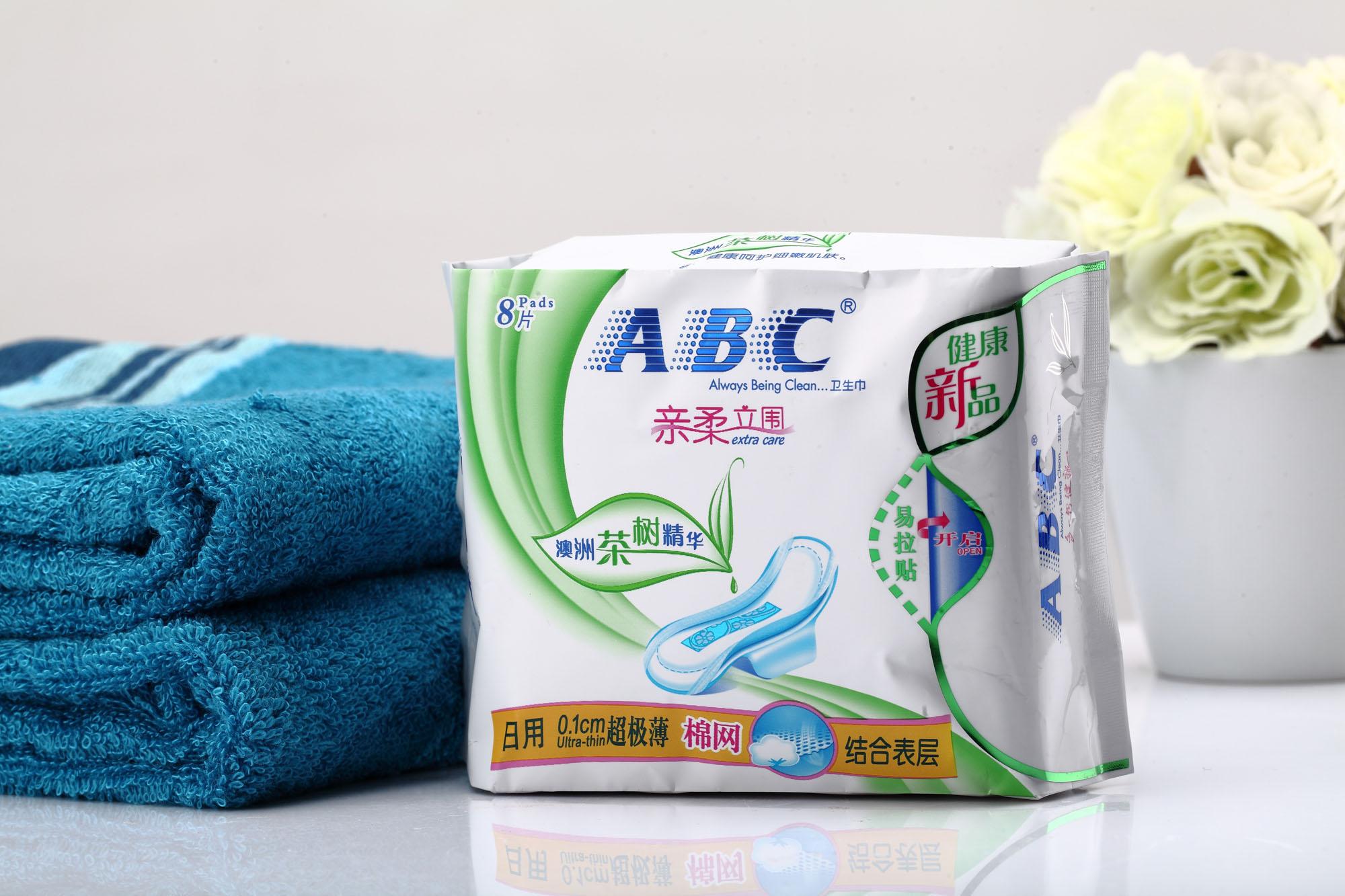 薄网感棉柔表层卫生巾